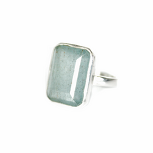 Load image into Gallery viewer, Silver Aquamarine Ring