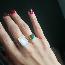 Load image into Gallery viewer, Rea Ring in Green Onyx
