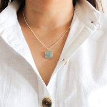 Load image into Gallery viewer, Sterling Silver Aquamarine Ball Chain Necklace