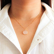 Load image into Gallery viewer, Round Rose Quartz Necklace