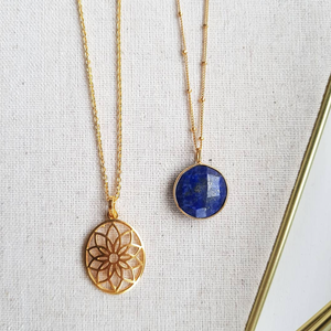 Hannah Necklace in Lapis