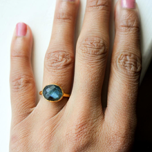 Load image into Gallery viewer, Mina Ring in Labradorite