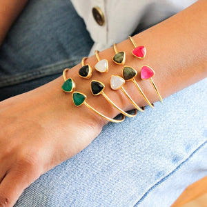 Gemstone Cuffs