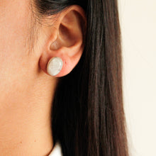 Load image into Gallery viewer, Silver Moonstone Studs