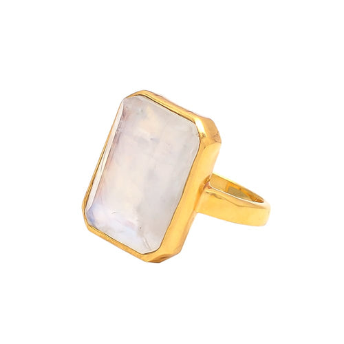 Moonstone 14k Gold Vermeil Ring
