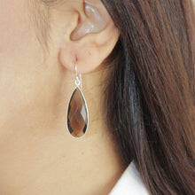Load image into Gallery viewer, Sterling Silver Smoky Quartz Earrings