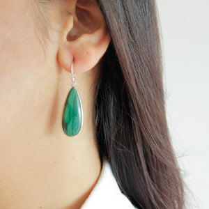 Malachite Teardrop Earrings