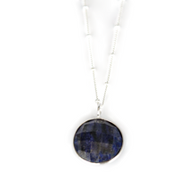 Load image into Gallery viewer, Sterling Silver Lapis Necklace