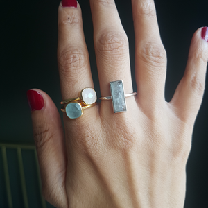 Rea Ring in Aquamarine