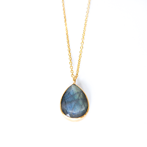 Labradorite 14k Gold Vermeil Necklace