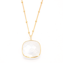 Load image into Gallery viewer, Milk Chalcedony Ball Chain Necklace