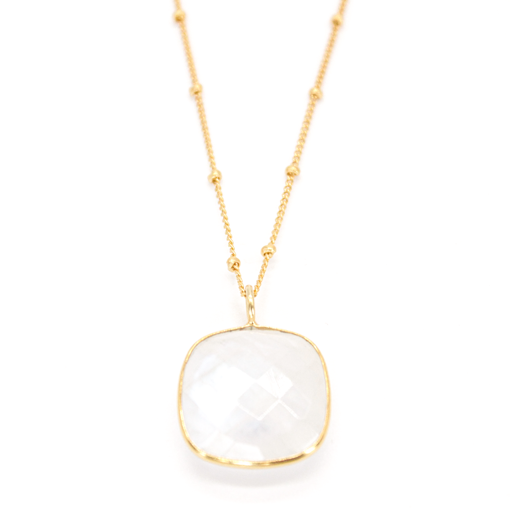 Milk Chalcedony Ball Chain Necklace