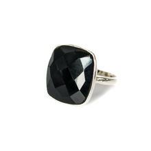Load image into Gallery viewer, Black Onyx Sterling Silver Ring