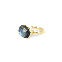 Load image into Gallery viewer, Gold Labradorite Ring