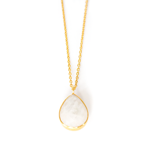 Moonstone 14k Gold Vermeil Necklace