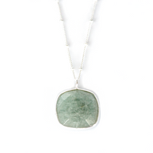 Load image into Gallery viewer, Sterling Silver Aquamarine Necklace