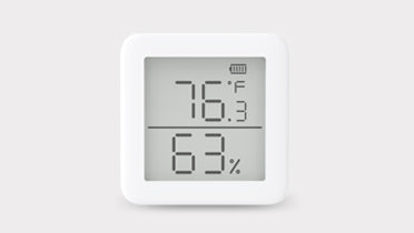 SwitchBot Meter (Thermometer & Hygrometer) - Monitor and track temperature and humidity easily with SwitchBot App. 24/7 notification alert with the Swiss-made ac.  Smart digital display gauge. Add SwitchBot Hub compatible with Google Home, Alexa, HomePod,