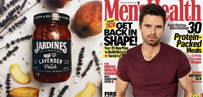 Jardines Bootleg series Sassy Lavender and Peach Salsa Ranked Top 5 by Men's Health Magazine!
