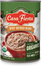 Load image into Gallery viewer, Organic Spicy Refried Beans