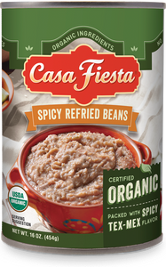 Organic Spicy Refried Beans