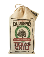 Load image into Gallery viewer, DLJ Texas Chili Bag O'Fixins Kit