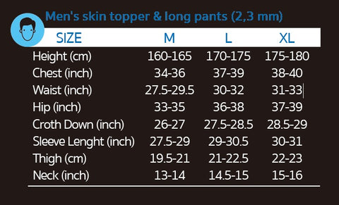 20 skin PANTS 3mm(MEN)