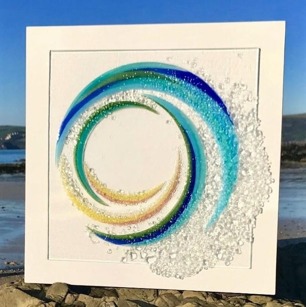 Berserks Glass wholesale fused glass Wave Panel