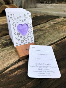 Set of 6 Pocket Hearts - Top Ups - Thinking of You