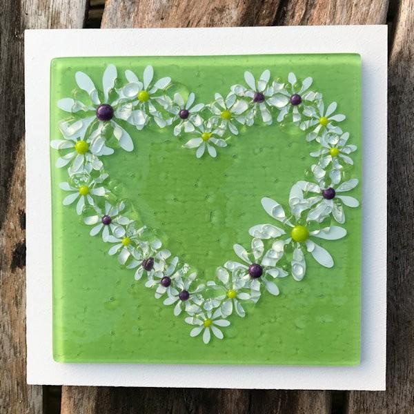 Daisy Wall Art Panel - Medium - Lime
