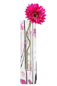 Berserks Glass wholesale fused glass Wall Hanging Flower Pocket - Pink