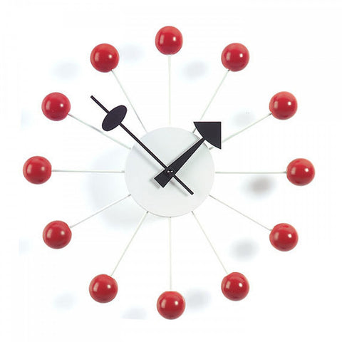 Copy of vitra ball clock in red