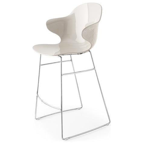 calligaris saint tropez counter stool w/metal frame