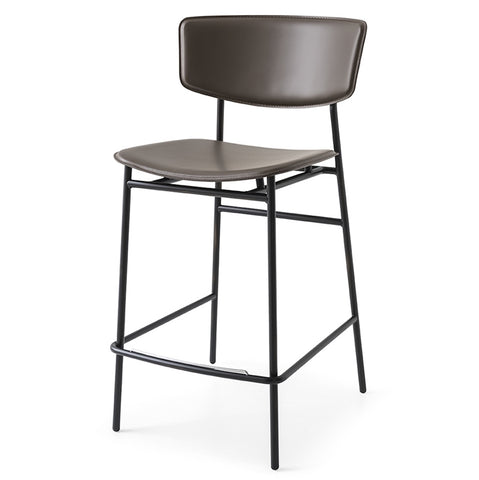 calligaris fifties leather counter stool