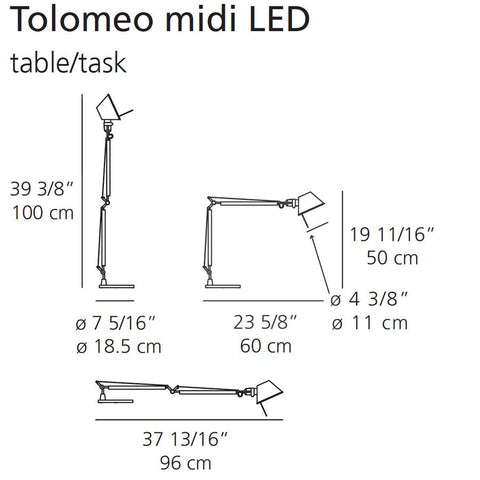 artemide tolomeo midi table lamp specs
