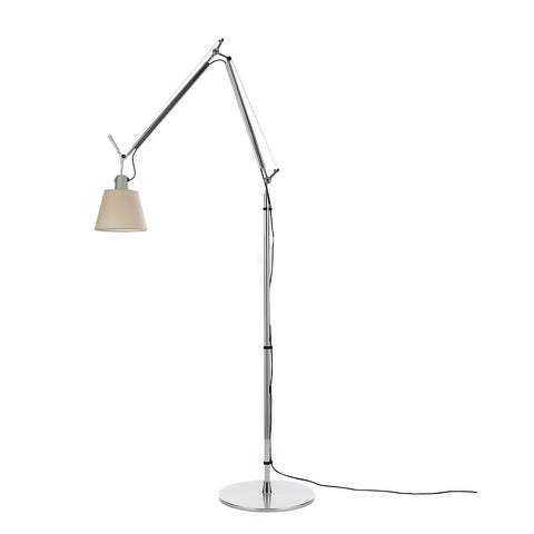 artemide tolomeo classic floor lamp with paper parchment shade