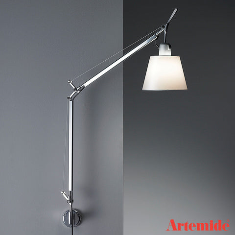 artemide tolomeo classic wall lamp with shade