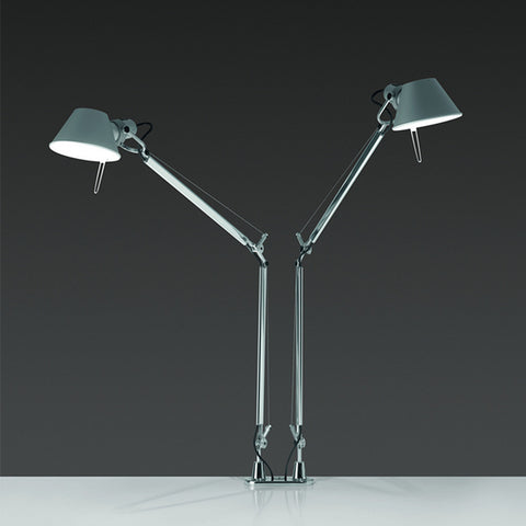 artemide tolomeo midi table lamp with twin base