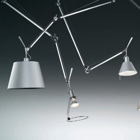 artemide tolomeo off center suspension lamp head options
