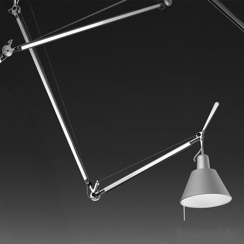 artemide tolomeo off center suspension lamp