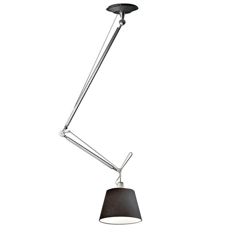 artemide tolomeo off center suspension lamp in black