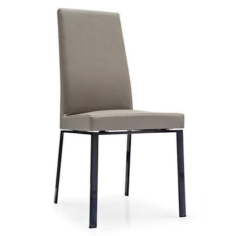 calligaris bess dining chair metal legs