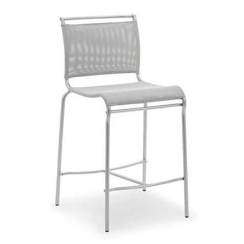 calligaris air counter stool in grey