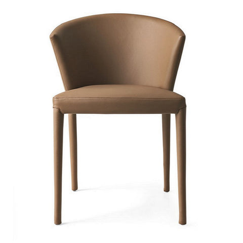 calligaris amélie leather chair