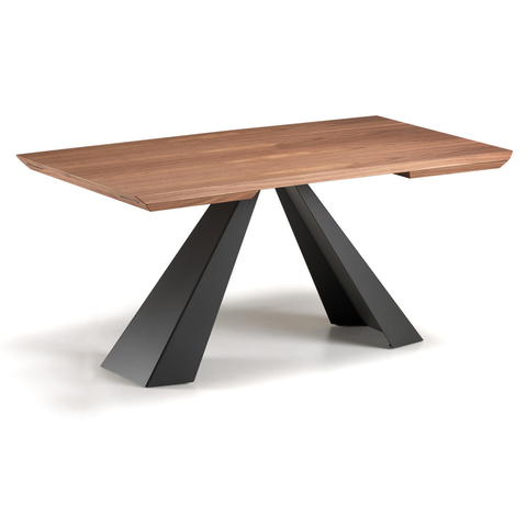 cattelan eliot wood drive dining table in walnut top