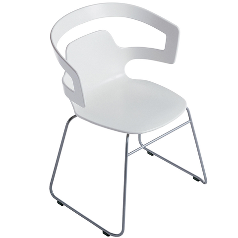 alias segesta sled base stacking chair