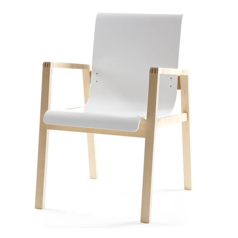 alvar aalto armchair 403 in white lacquer seat