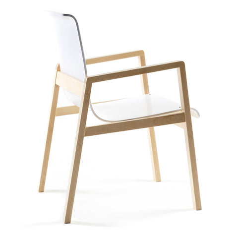 alvar aalto armchair 403 natural birch and white lacquer