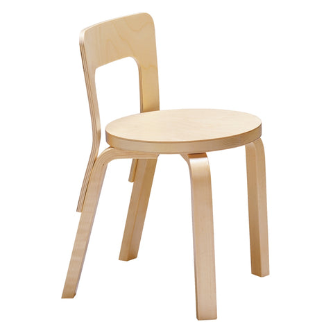 alvar aalto children's chair n65 in natural birch veneer