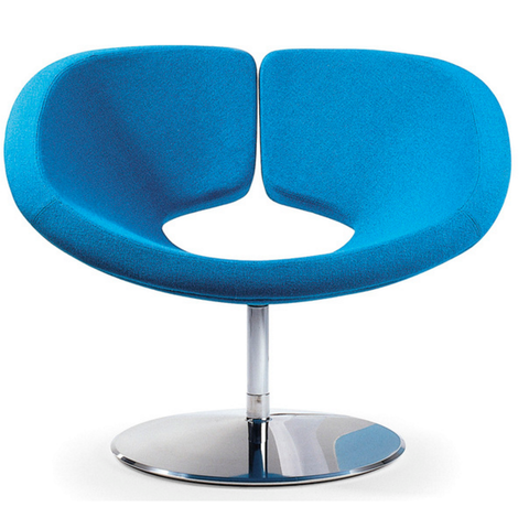 artifort apollo lounge chair in blue