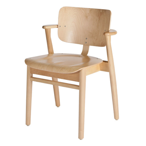 artek domus chair in natural lacquered birch